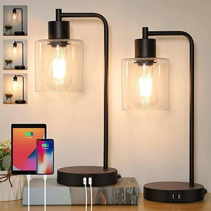 Industrial Table Lamps Set of 2 from Amazon🔥