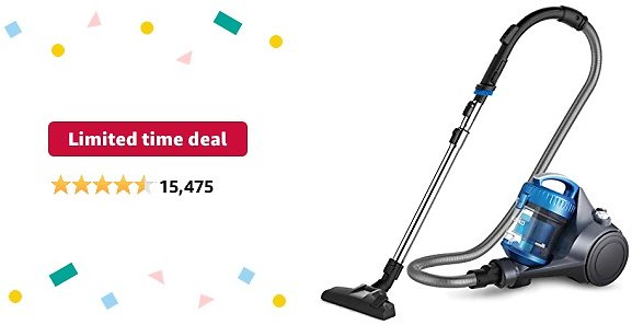 Limited-time Deal: Eureka WhirlWind Bagless Canister Vacuum Cleaner, Lightweight Vac for Carpets and Hard Floors, Blue