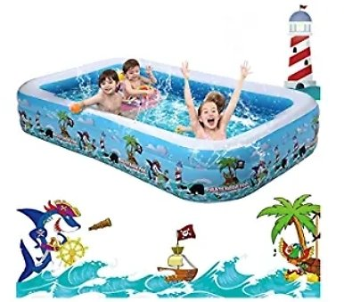 10FT Inflatable Swimming Pool from Amazon.