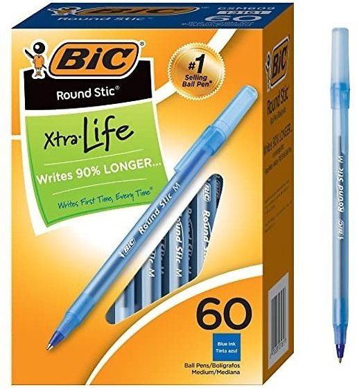 BIC Round Stic Xtra Life Bal Lpoint Pen Only for $5.99 Only