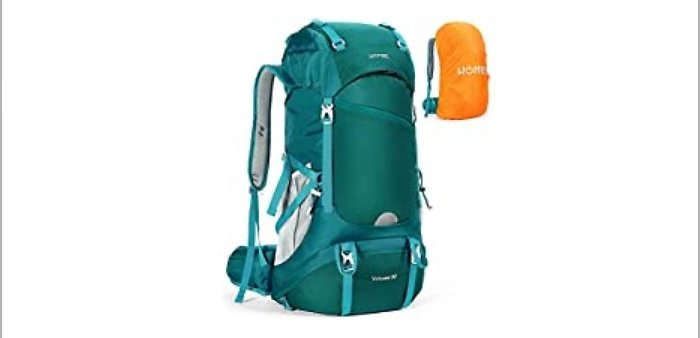 HOMIEE 50L Hiking Waterproof Backpack with Rain Cover Hiking Daypacks from Amazon.com
