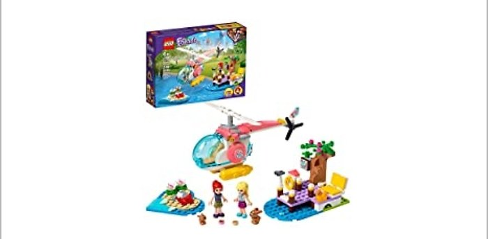 LEGO Friends Vet Clinic Rescue Helicopter 249-Piece Building Kit from Amazon.com