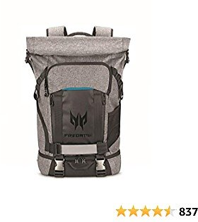 Acer Predator Rolltop Gaming Backpack, Water Resistant Lightweight Travel Backpack Fits and Protects Up to 15.6
