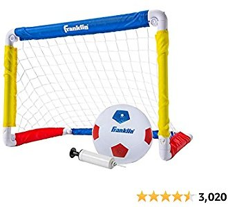 Franklin Sports Kids Mini Soccer Goal Set - Backyard/Indoor Mini Net and Ball Set with Pump for $11.99