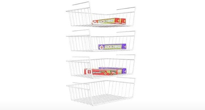 ISPECLE 4 Pack White Wire Rack, from Amazon.
