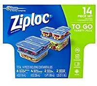 14-piece Ziploc Food Storage Meal Prep Containers for $4.31