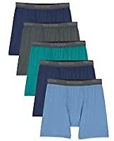 5-Pack Fruit of The Loom Men's Micro-Stretch Boxer Briefs (Various Colors/sizes) from Amazon