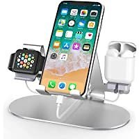 HoRiMe 3 in 1 Apple Watch Charger Stand Dock for IWatch Series 4/3/2/1,iPad,AirPods from Amazon.