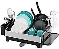 Veckle Stainless Steel Dish Rack with Drain Board from Amazon.com