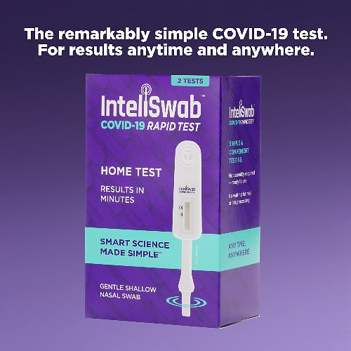InteliSwab™ COVID-19 Rapid Antigen Test, For Results Anytime and Anywhere (2 Tests)