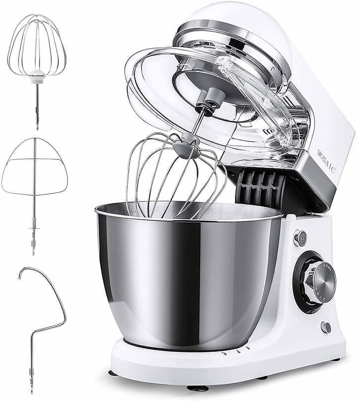 Stand Mixer Electric, MOSAIC Kitchen Food Mixer with 5 Qt Stainless Steel Bowl from Amazon