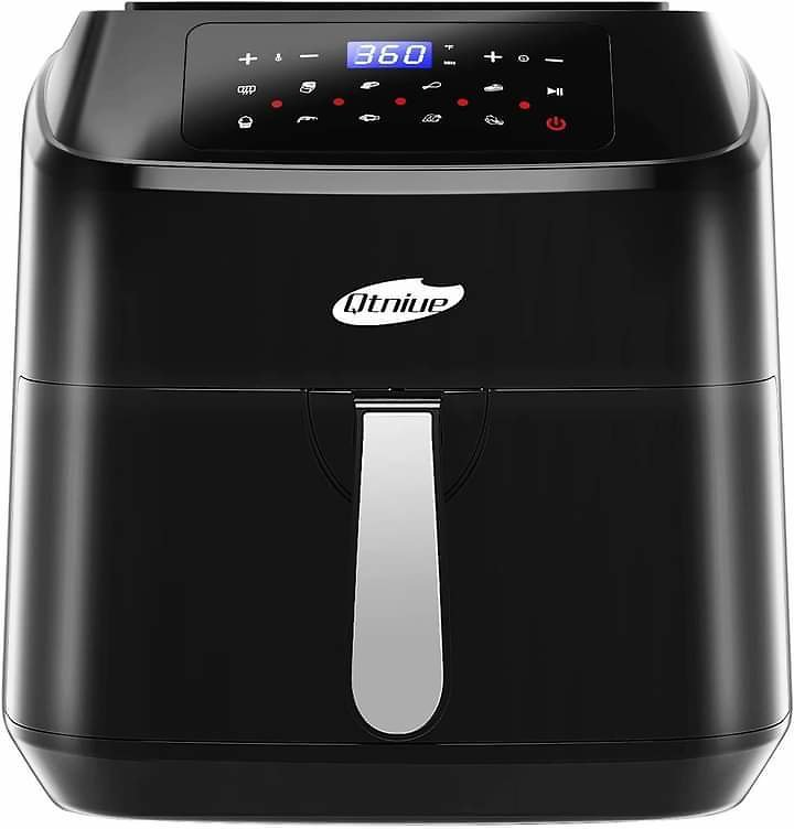 Air Fryer, Qtniue 8 Quart Electric Hot Oven, 10 Presets Electric Air Fryers Oven with Preheat, Touch Screen LED, from Amazon