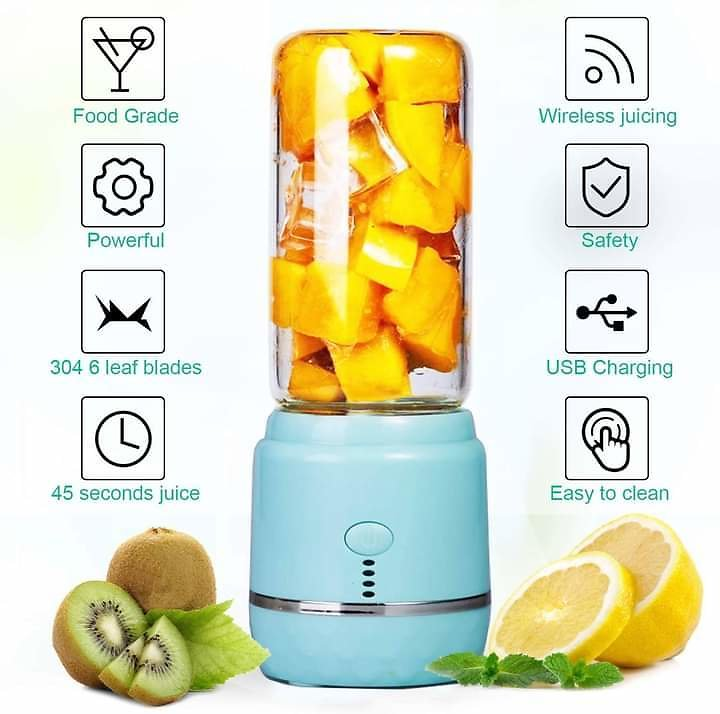 Portable Blender, Personal Blender, Mini Juicer Cup USB Rechargeable and Personal Size Blender from Amazon.