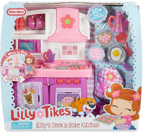 Lilly's Cook & Bake Kitchen Doll Playset By Little Tikes