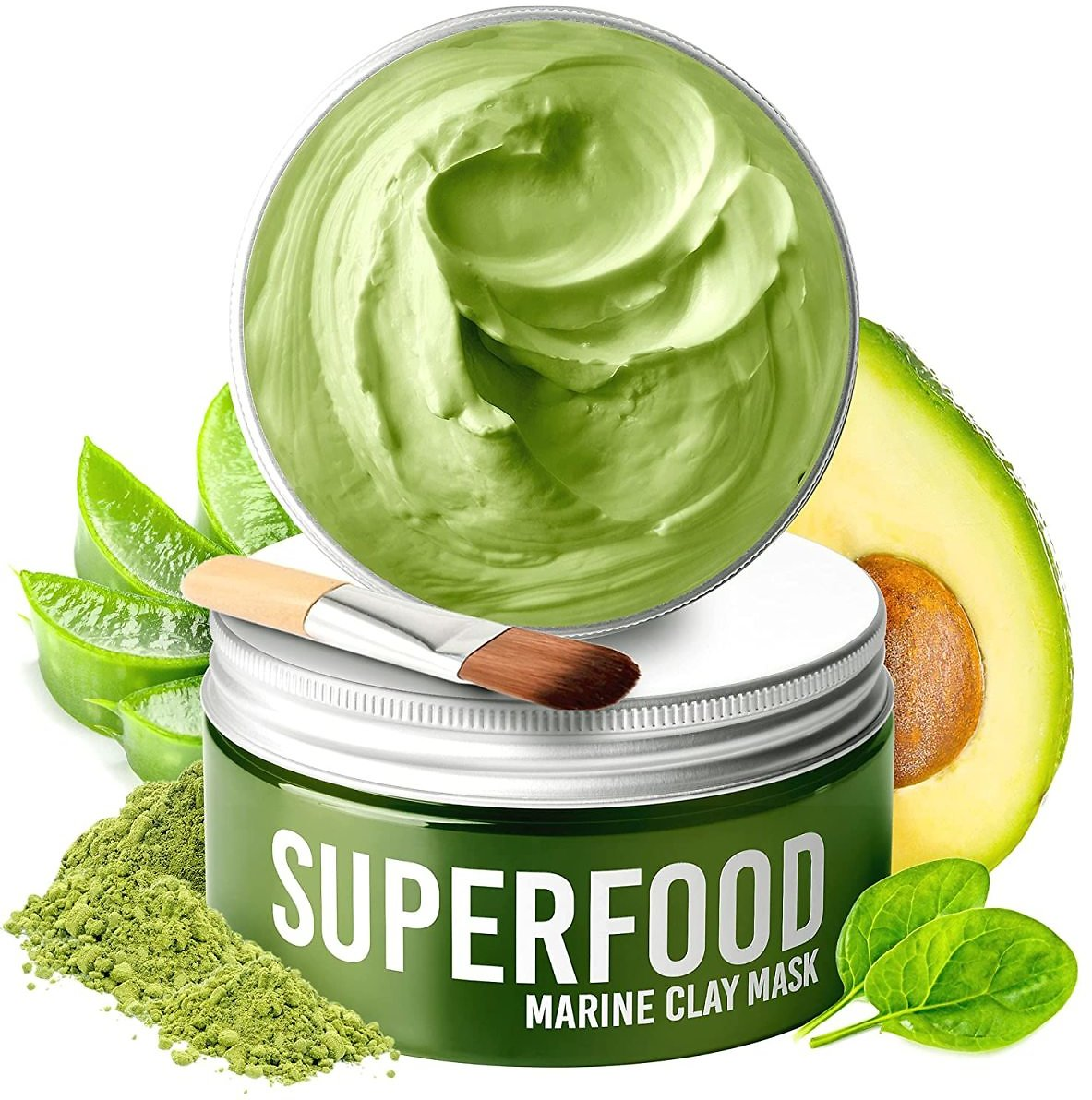 Clay Mask By Plantifique 100% Vegan with Avocado & Superfoods - Dermatologist Tested, Hydrating Dead Sea Mud Mask for $15.95