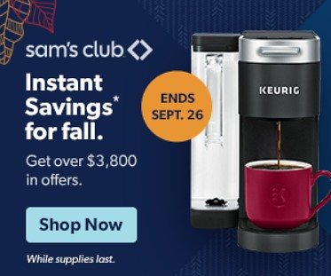 Instant Savings for Fall Sale ($3,800+ Offers)