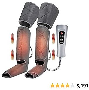 RENPHO Leg Massager with Heat, Compression Calf Thigh Foot Massage, Adjustable Wraps Design for Most Size, with 6 Modes 3 Intensities, Gifts for Mom