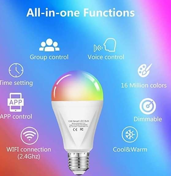 WIFI 13W 120W Equivalent RGBW Color Changing Led Bulb from Amazon