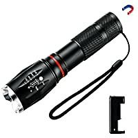 DEKOPRO LED Tactical Flashlight - Six Modes with COB Sidelight for $15.99