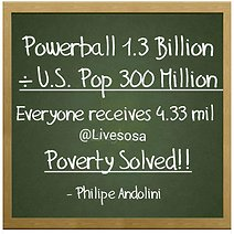 Can Poverty be Solved with Powerball Jackpot?