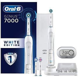 Oral-B WHITE 7000 SmartSeries Power Rechargeable Electric Toothbrush with Bluetooth Connectivity Powered by Braun