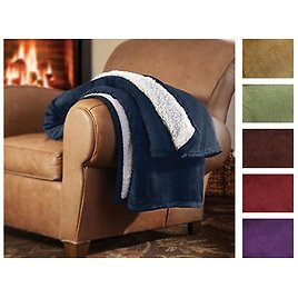 Ultra Plush Super Cozy Sherpa Comforters - King or Queen in 7 Colors