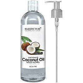 Majestic Pure Fractionated Coconut Oil 16 Oz - 100% Pure & Natural - One of the Best Aromatherapy Carrier Oils