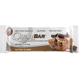 Quest Nutrition Protein Bar, Chocolate Chip Cookie Dough, 20g Protein, 2.1oz Bar, 12 Count