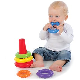Playgro Rainbow Color Rock 'n' Stack Toy for Baby
