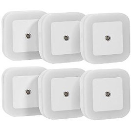 Sycees SC01 Plug-in LED Night Light Lamp 6-Pack with Dusk to Dawn Sensor