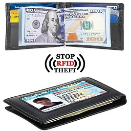 Slim Wallet with Money Clip (11 Styles)