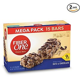 Fiber One Chewy Bars Oats & Chocolate (30-Count)