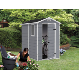 Keter Manor 4-ft x 6-ft Storage Resin Outdoor Shed Kit