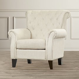 Alcott Hill Springfield Tufted Upholstered Arm Chair