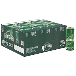 30-Pack Perrier Sparkling Mineral Water (8.45 Oz Ea)