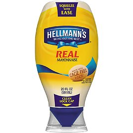 Hellmann's Real Mayonnaise, Squeeze 20 oz. (3 Pack)