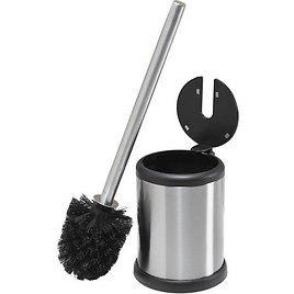 Bath Bliss Stainless Toilet Brush with Closing Lid