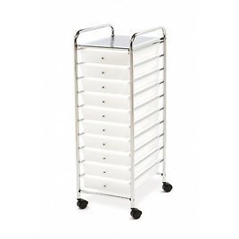 Seville Classics 10 Drawer Cart (Clear)