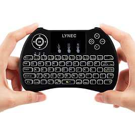 Lynec H9 2.4GHz Backlit Wireless Keyboard Mouse Remote W/Touchpad for PC,Xbox 360,PS3,Raspberry Pi 3 ,Google Android TV Box,Nvidia Shield TV,HTPC,IPTV: Electronics