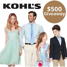 $500 Kohl's Shopping Spree (Two Winners!) + 30% Off Coupon Code