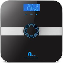 1byone Bathroom Scale with Tempered Glass