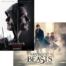 50¢ HD Movie Rental: Fantastic Beasts or Assassin's Creed (PS Plus Exclusive Discount)