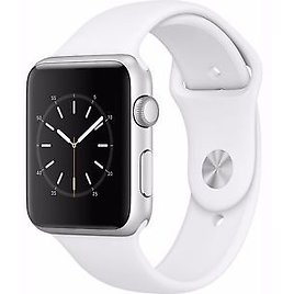 Apple Watch Series 1 42mm Silver Aluminum Case White Sport Band