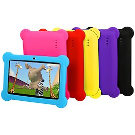 """Kids Tablet PC 7"""" Android 4.4 Case Bundle Dual Camera"""
