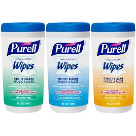 3-Pack Purell Hand Sanitizing Wipes Variety Scent (40 Count)