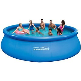 """Summer Waves 16' X 48"""" Quick Set Round Above Ground Swimming Pool with Deluxe Accessory Set"""