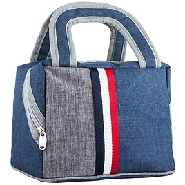 Lunch Bag Lunch Box Tote Bag Reusable Zip Closure Handbag Back Pocket Insulated Bag Cooler Bag Lunch Organizer Lunch Tote (7.5L)