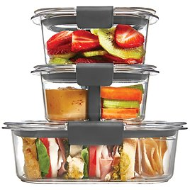 10-Pc Rubbermaid Food Storage Containers