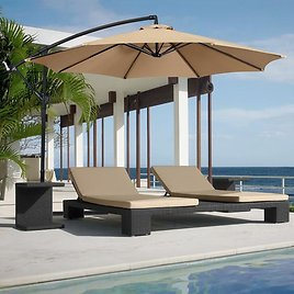 10' Patio Hanging Umbrella w/ Free Shipping (3 Colors)