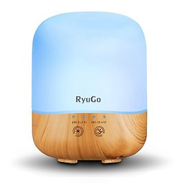 Aroma Diffuser 300ml Essential Oil Ultrasonic Cool Mist Humidifier Air Purifier with Adjustable Mist Modes, 7 Color LED Lights, Waterless Auto Shut-off for Home Office Bedroom Room Yoga